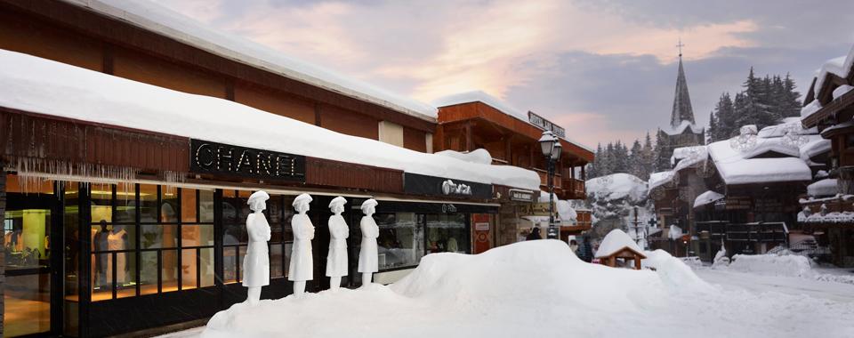 Chanel sous la neige