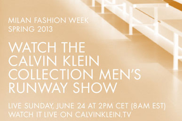 Calvin Klein en direct