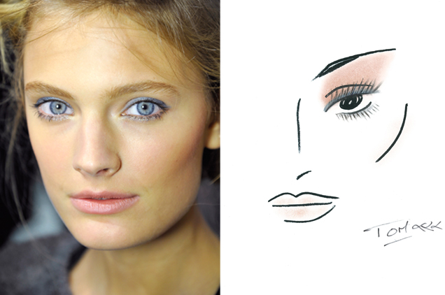 Le make up d'Anthony Vaccarello