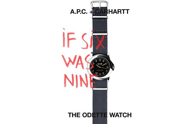 La montre APC + Carhartt